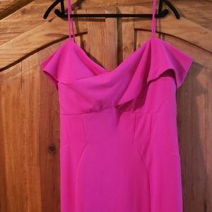 Nightway  Plus Size Portrait-Collar Scuba Gown